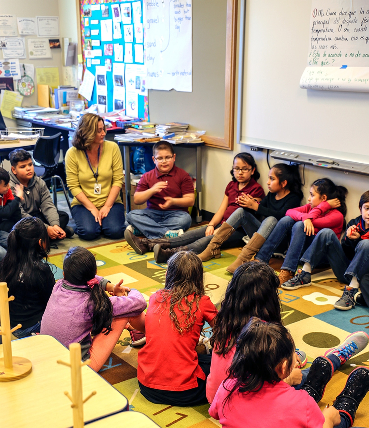 Next Gen classes often include time for students to quiz each other—and their teacher—about what they're learning.