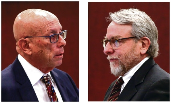 Even though her office employs no fewer than four staff lawyers, the governor hired Paul Kennedy, left, to fight SFR's team, led by Daniel Yohalem, right.