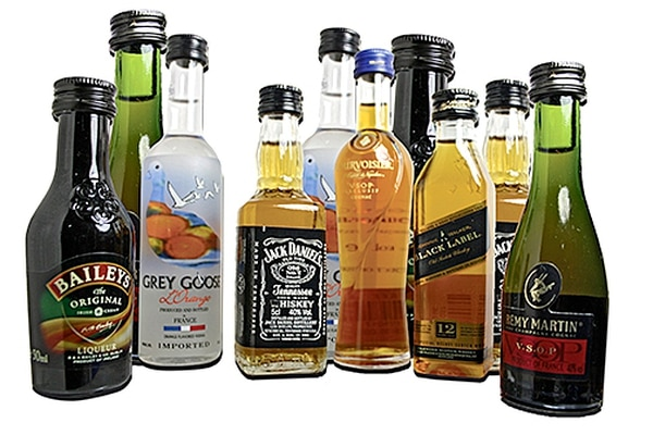 Miniature bottles of alcohol can no longer be sold on Airport Road.