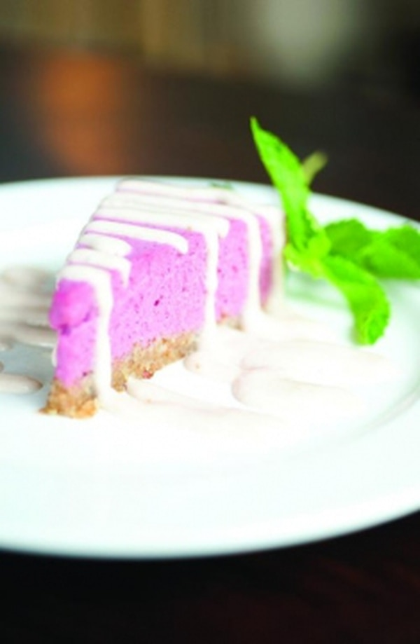 Vegan, raw and gluten-free raspberry mousse Photo: Joy Godfrey