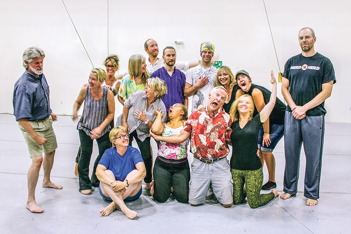 Santa Fe Improv's introductory class with Ben Taxy (far right) is designed for people who have never taken an improv class before. It's great for folks who like to interact with others, want to be better at it, or both.
