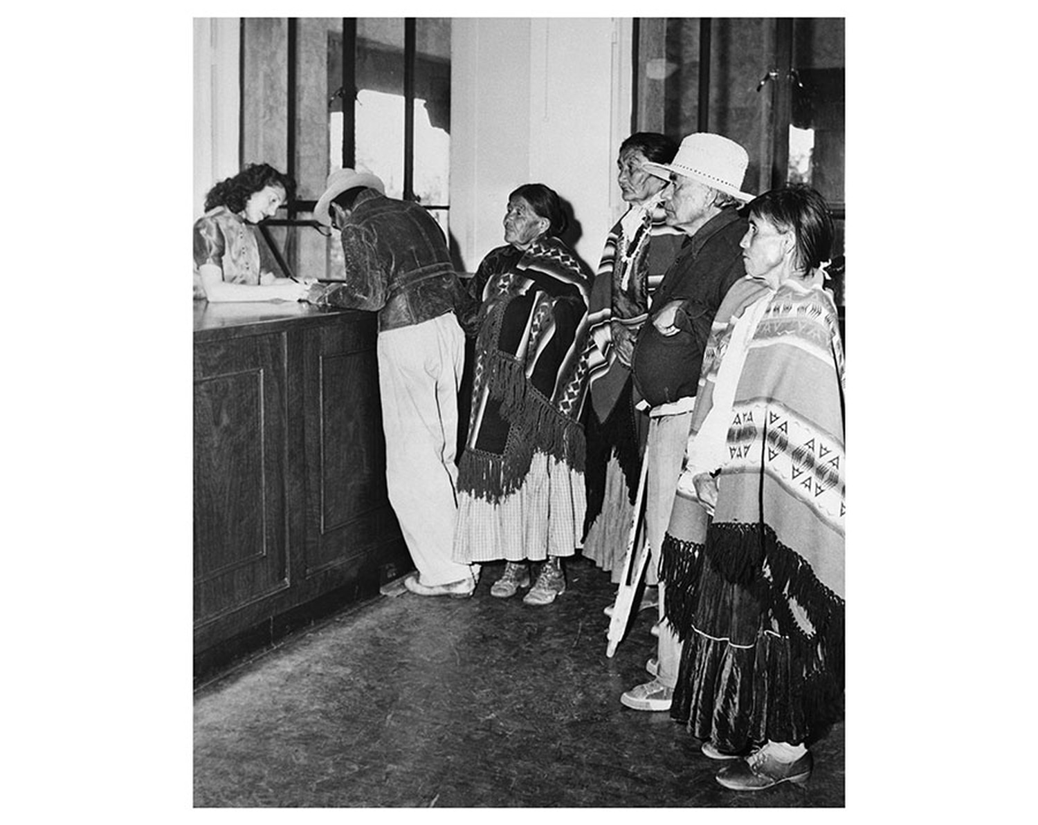 Native Americans attempting to register to vote in New Mexico in 1948.