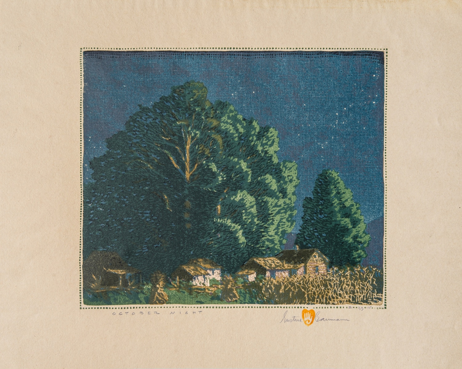 """October Night"" by Gustave Baumann."