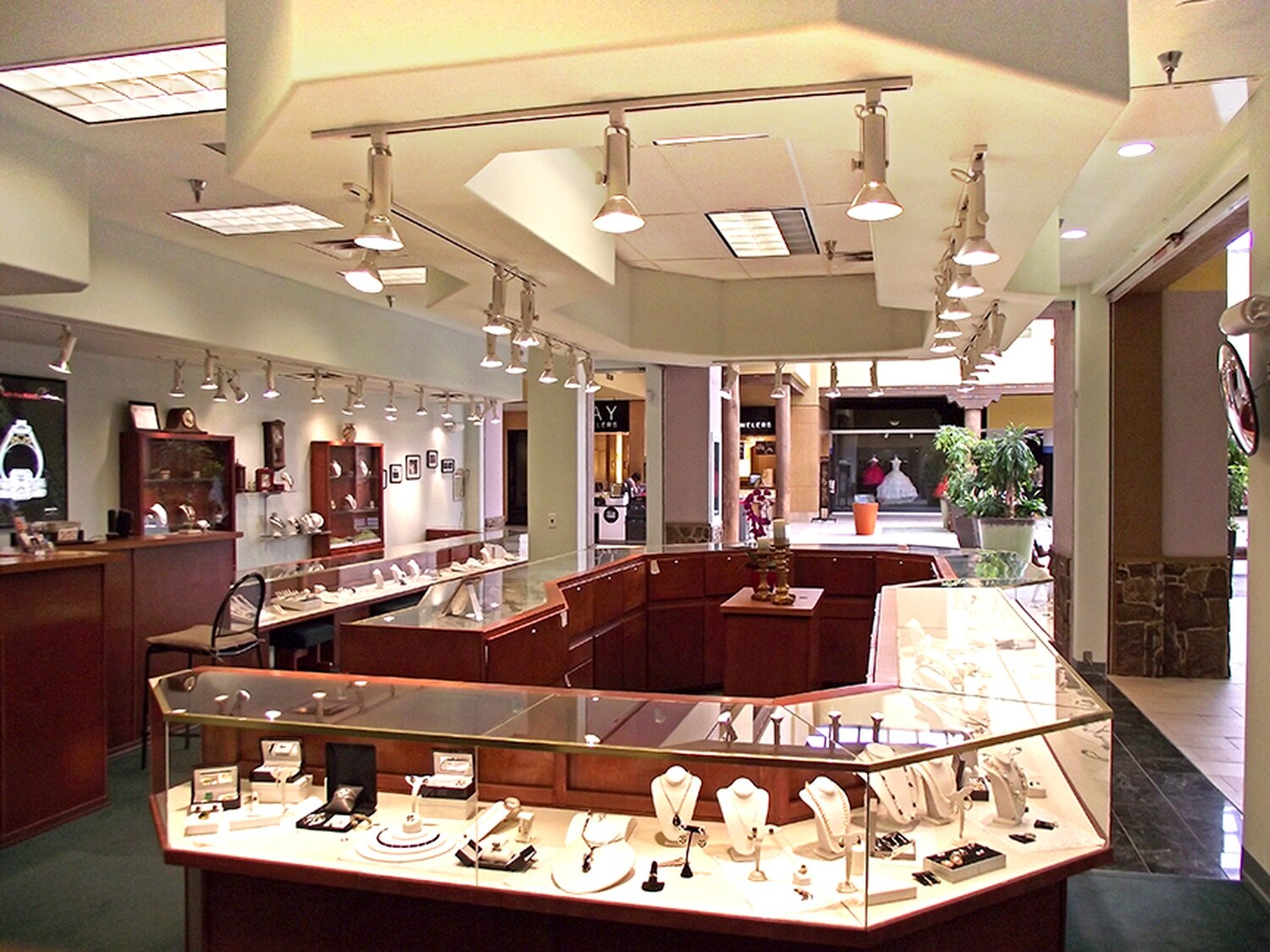 Pro Fix Jewelers recenty moved to this bigger spot, and owner David Giron says business there has doubled over his previous location in the mall.