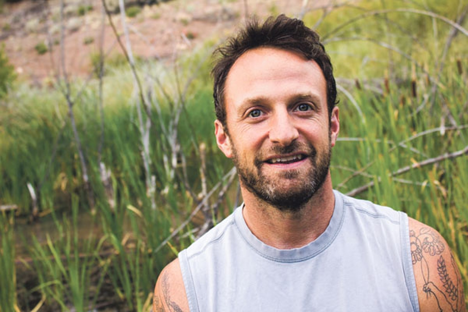 """Local yoga instructor Josh Schrei """"finds excitement by seeing other people tap into that inner connection,"""" a friend says."""