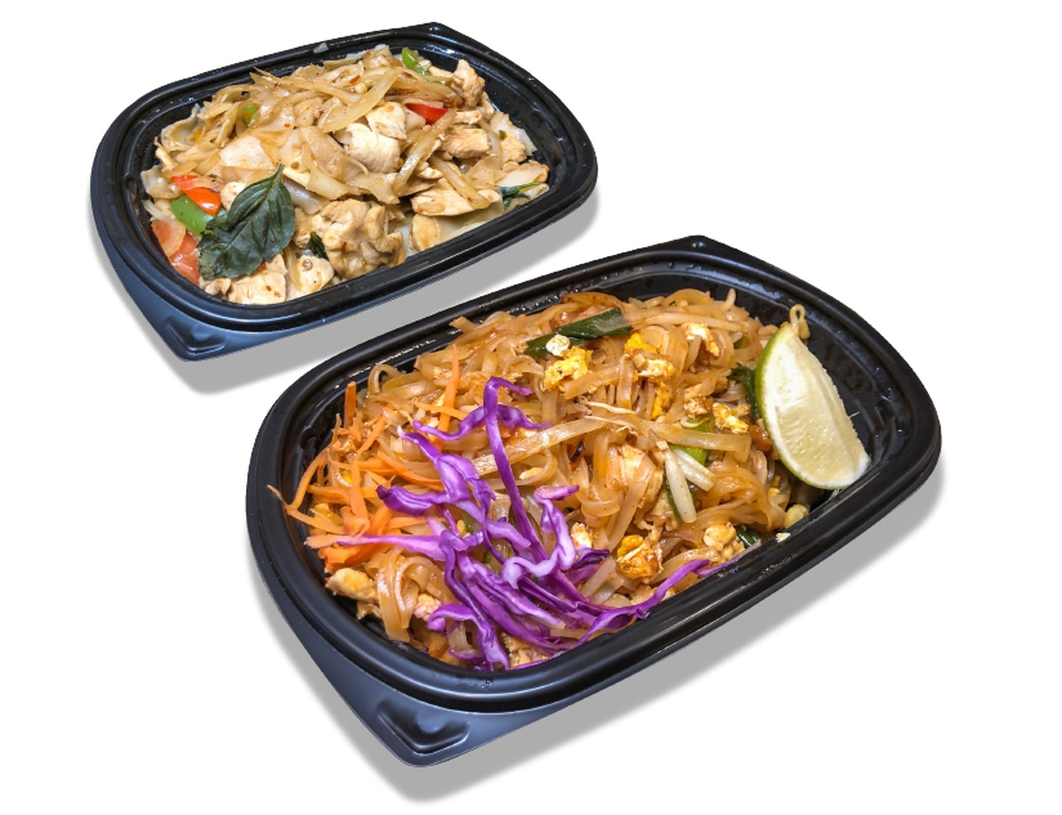 Thai on Canyon's drunken noodle (top) and pad Thai both proved excellent dishes.