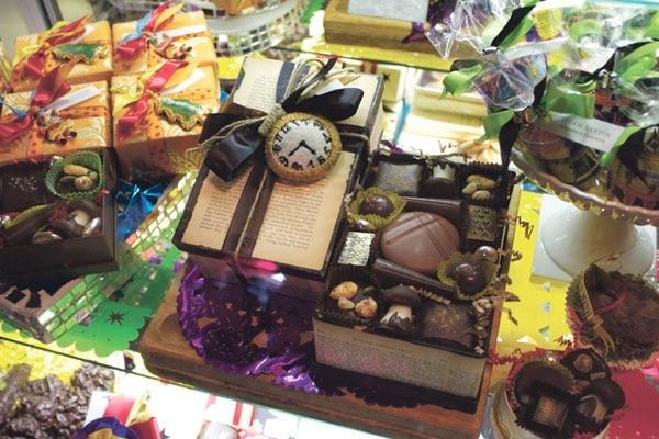 Suck my clock: Todos Santos' chocolate box is sinfully delicious. -Enrique Limón