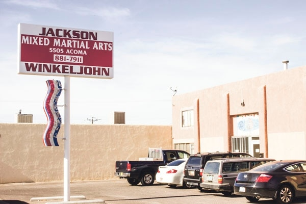 The gym where Condit trains occupies an unassuming storefront in Albuquerque, but inside, some of the sport's best fighters train.