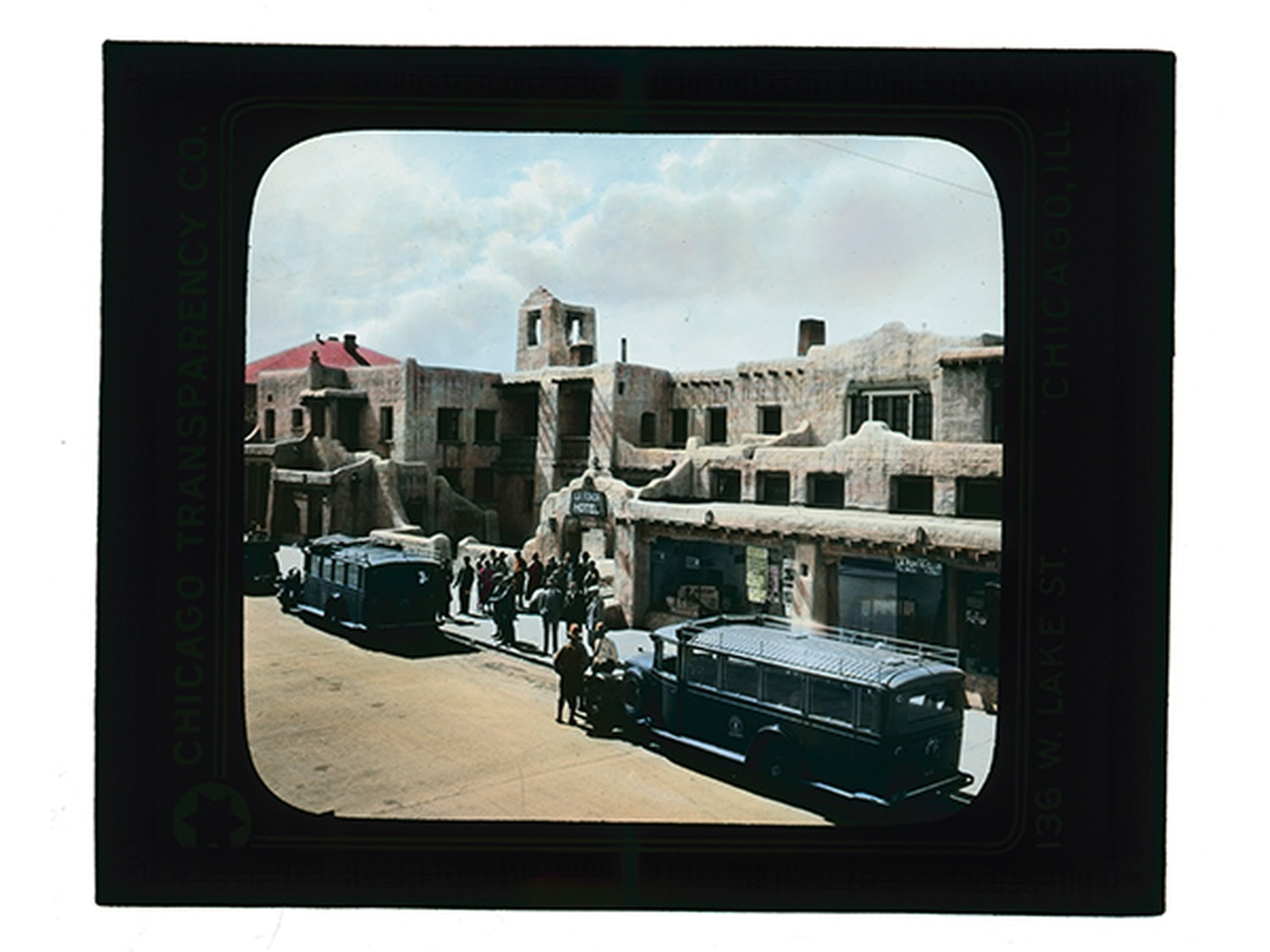 """A slice of history: In the early 1900s, the Santa Fe railroad bought La Fonda, which became the headquarters for Fred Harvey's new """"Indian Detour"""" bus-tour business."""