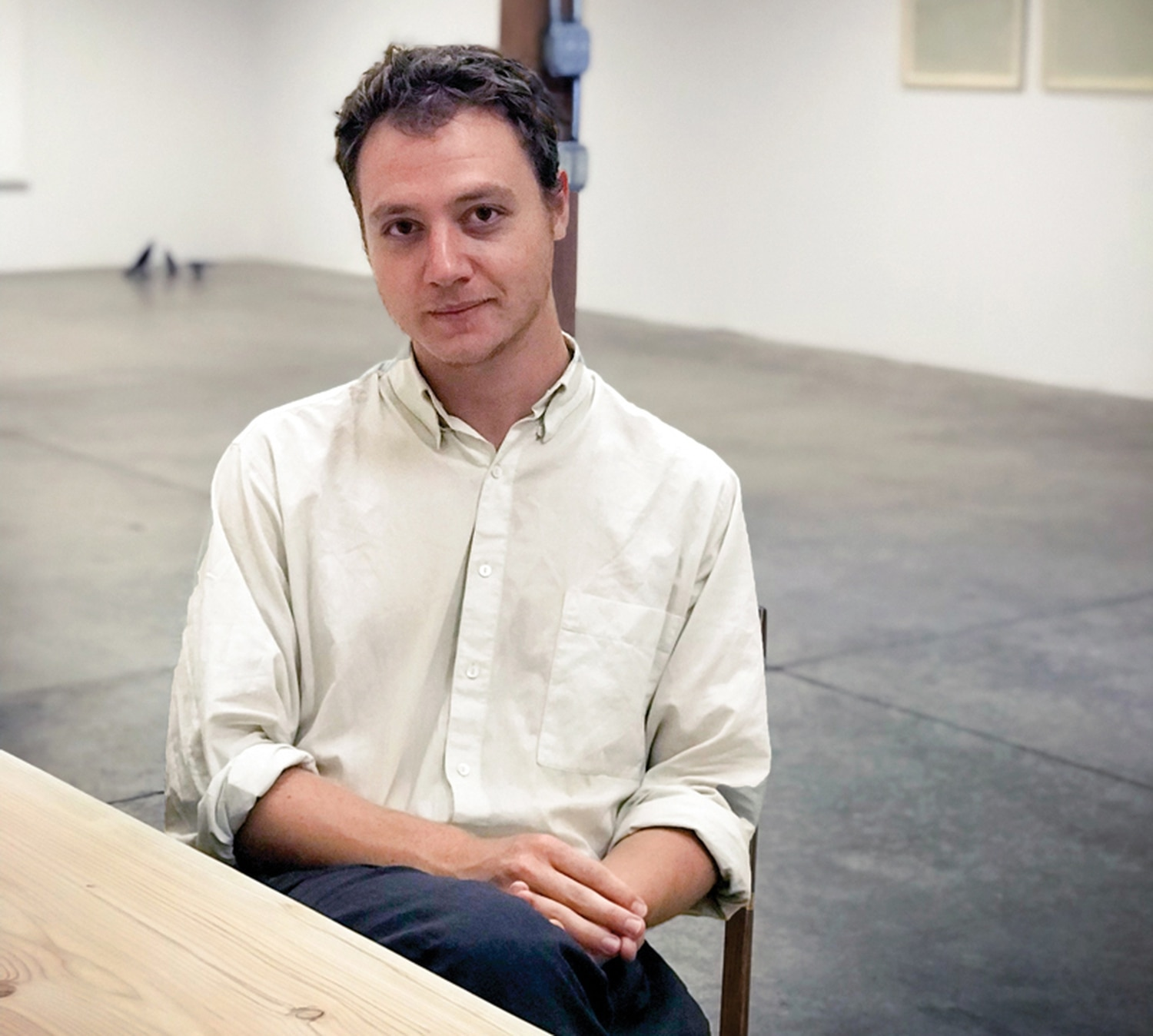 Max Baseman of 5. Gallery, a passion project that showcases work he finds important.