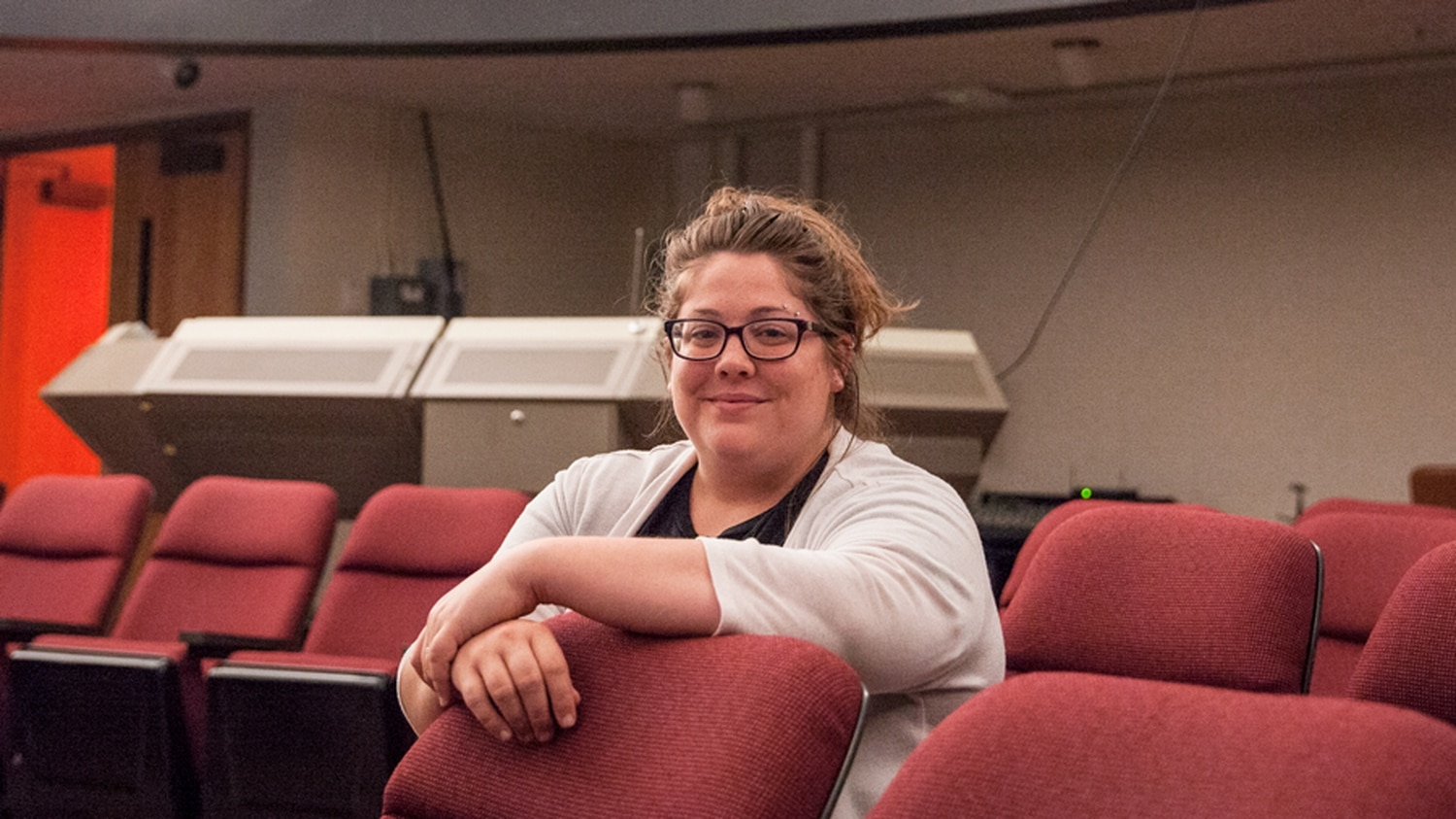 Amanda Truitt teaches many of her classes inside SFCC's Planetarium.