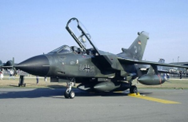 The German Tornado, capable of Mach 2.2 flight speeds, is one of the aircraft that conduct low-altitude training flights out of New Mexico's Holloman Air Force Base.