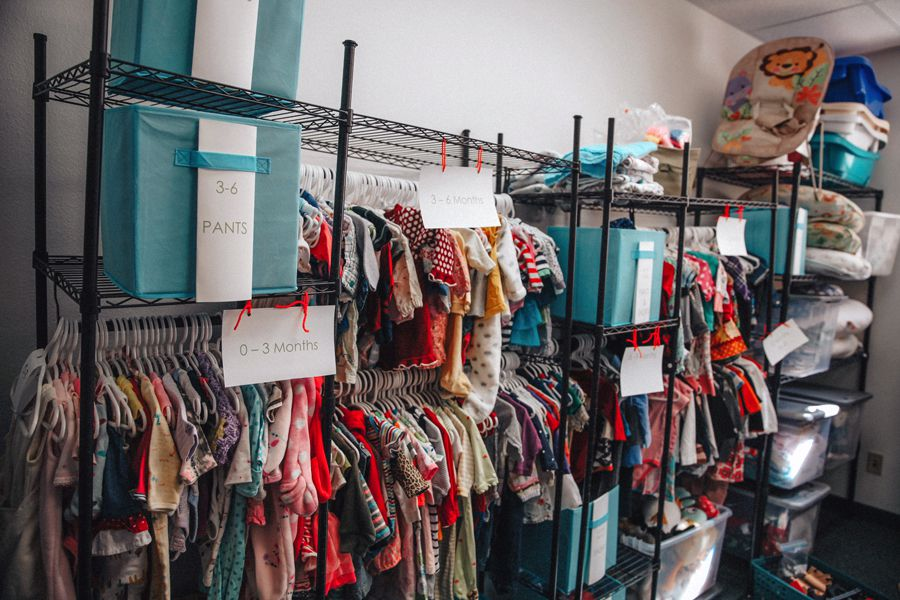 Maternity and childrens clothes at The Village Closet.