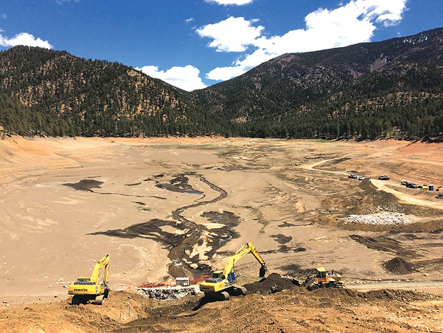 Repairs to the McClure Reservoir required the city to let all the water flow downstream. Together, the city's reservoirs can hold more than 1.3 billion gallons.