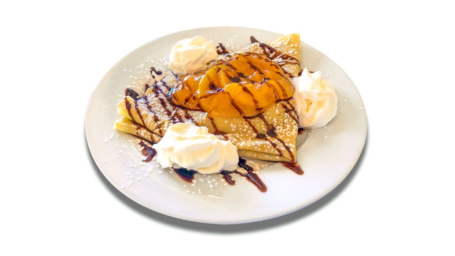 Holy peach crepe, Batman—Sagche's Coffee House offerings are out of control.