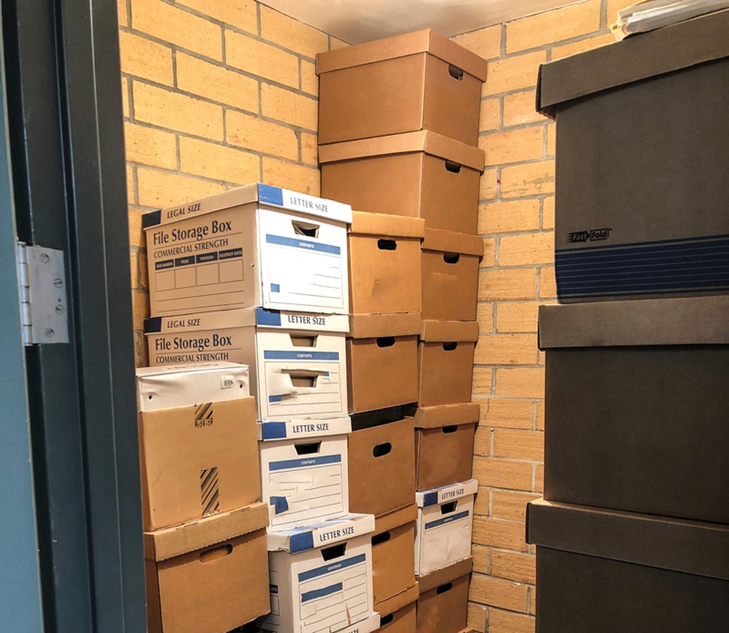 Evidence from cold cases is crammed in storage space at the State Police headquarters.