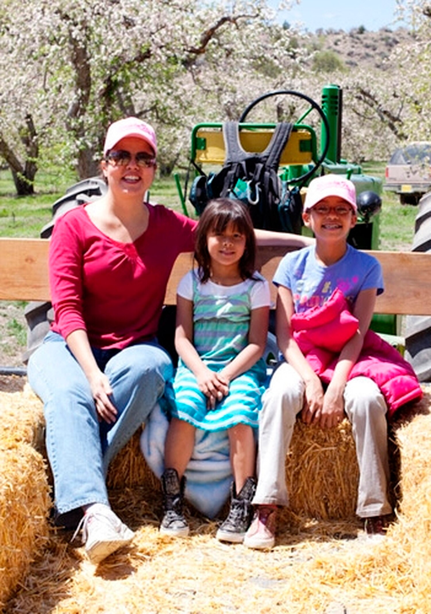Springtime hayrides were also popular events at the orchard.
