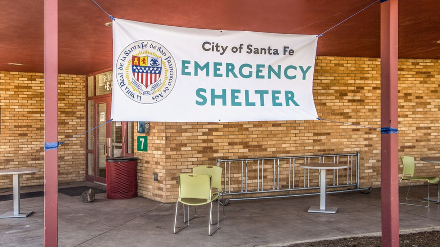 The Midtown Emergency Shelter on the former campus of the Santa Fe University of Art and Design gave homeless people the opportunity to self-isolate and prevent the spread of COVID-19.
