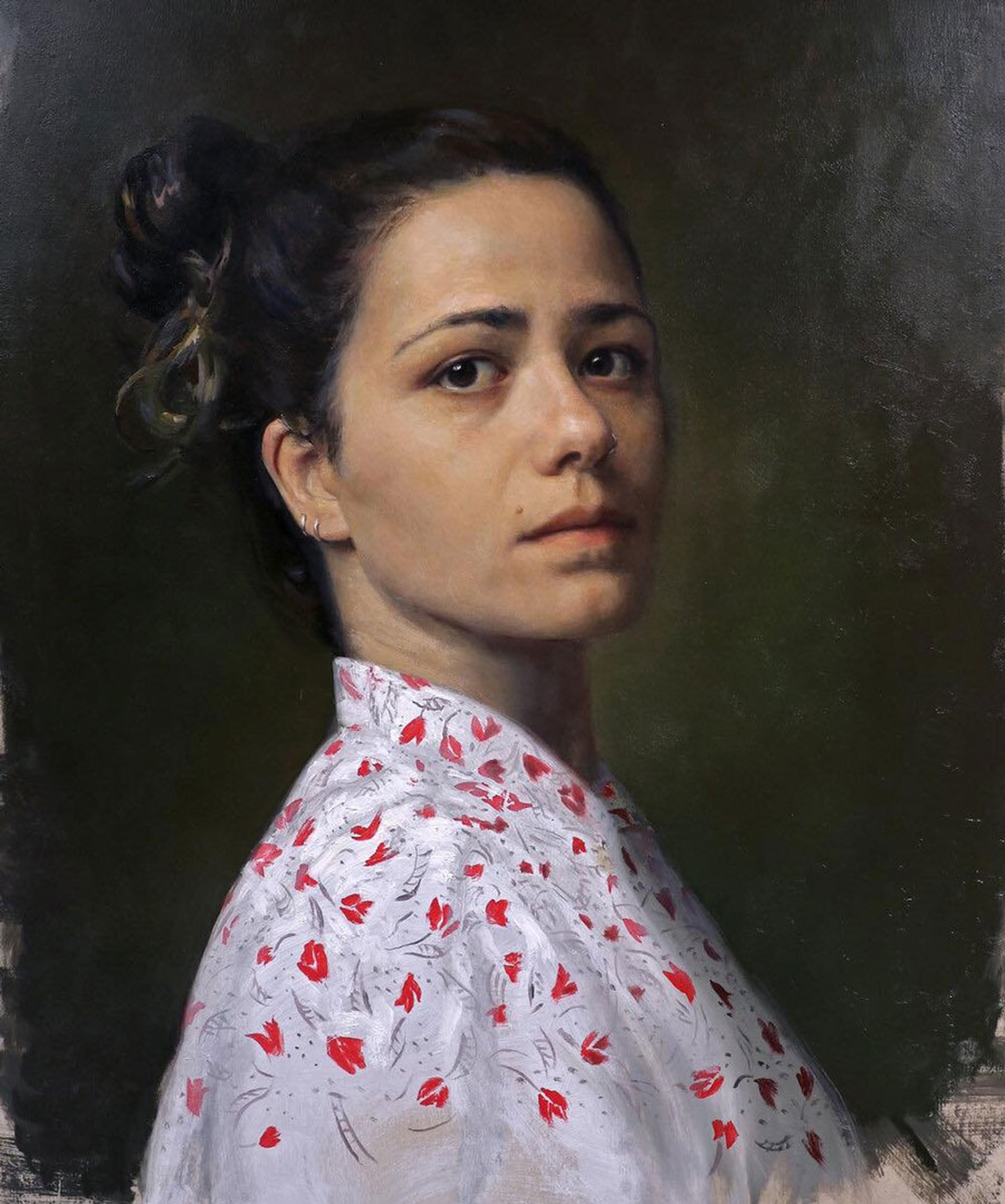 """Cesar Santos' """"Valentina"""" from 5. Gallery's most recent show, one that's extended through the end of the month."""
