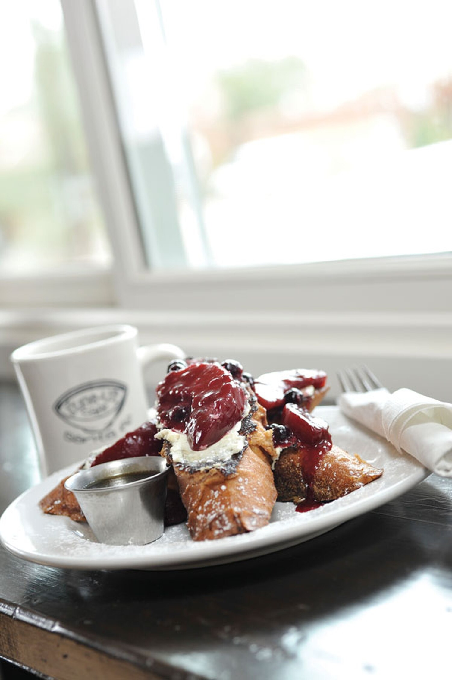 Fruit-compote-stuffed French toast