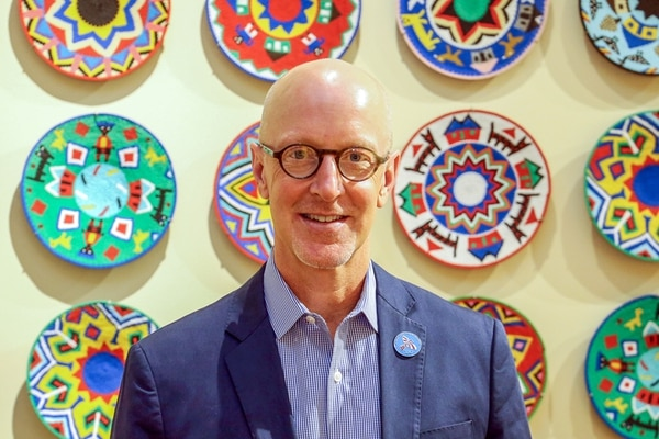 Jeff Snell, CEO of the International Folk Art Alliance, is drawing on his background in social innovation to expand the market to new cities.