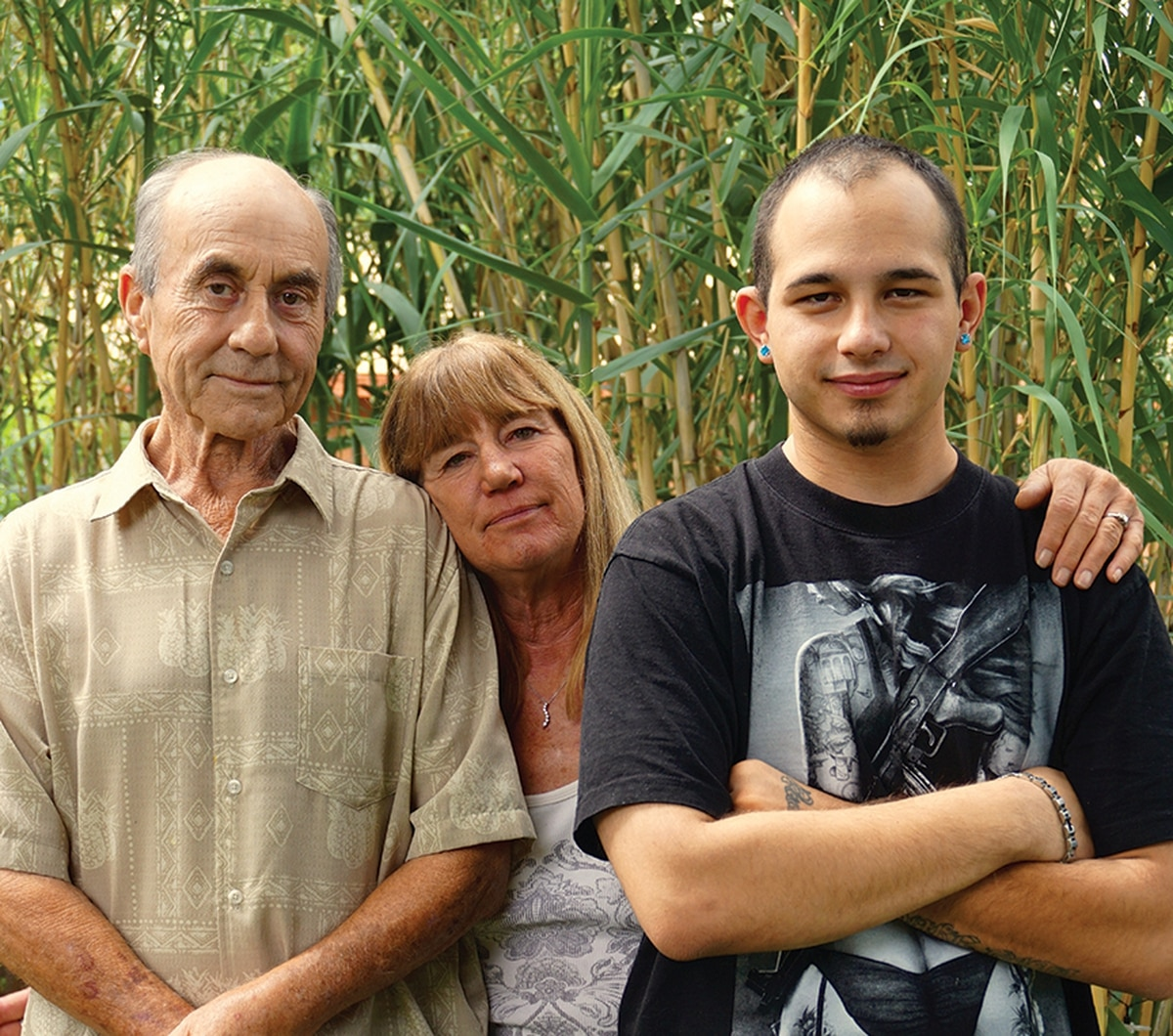 """Jennifer Padilla's family doesn't shy away from her spotty past, but they say the ATF crossed a line. From left: Dan Sullivan, her father; Denise """"Scooter"""" Sullivan, her mother; and Andrew Padilla, her eldest son."""