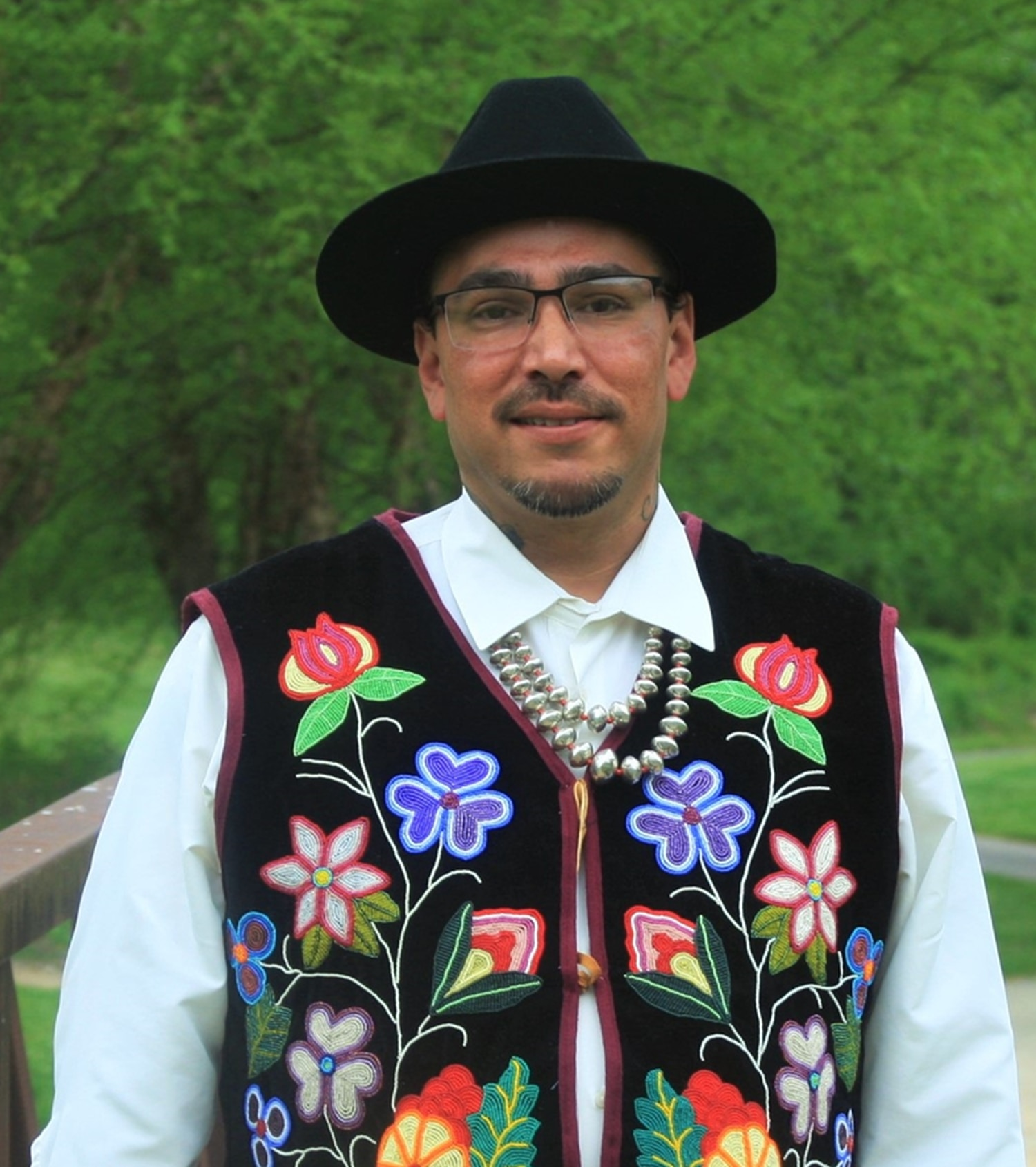 """Menominee Indian craftsman Dana Warrington says he'll be """"more than happy"""" to talk about his art with anyone interested, both at Good Folk gallery and the Indian Market."""