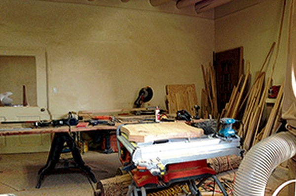Interior renovation at the former state-owned building on East De Vargas Street is ongoing.