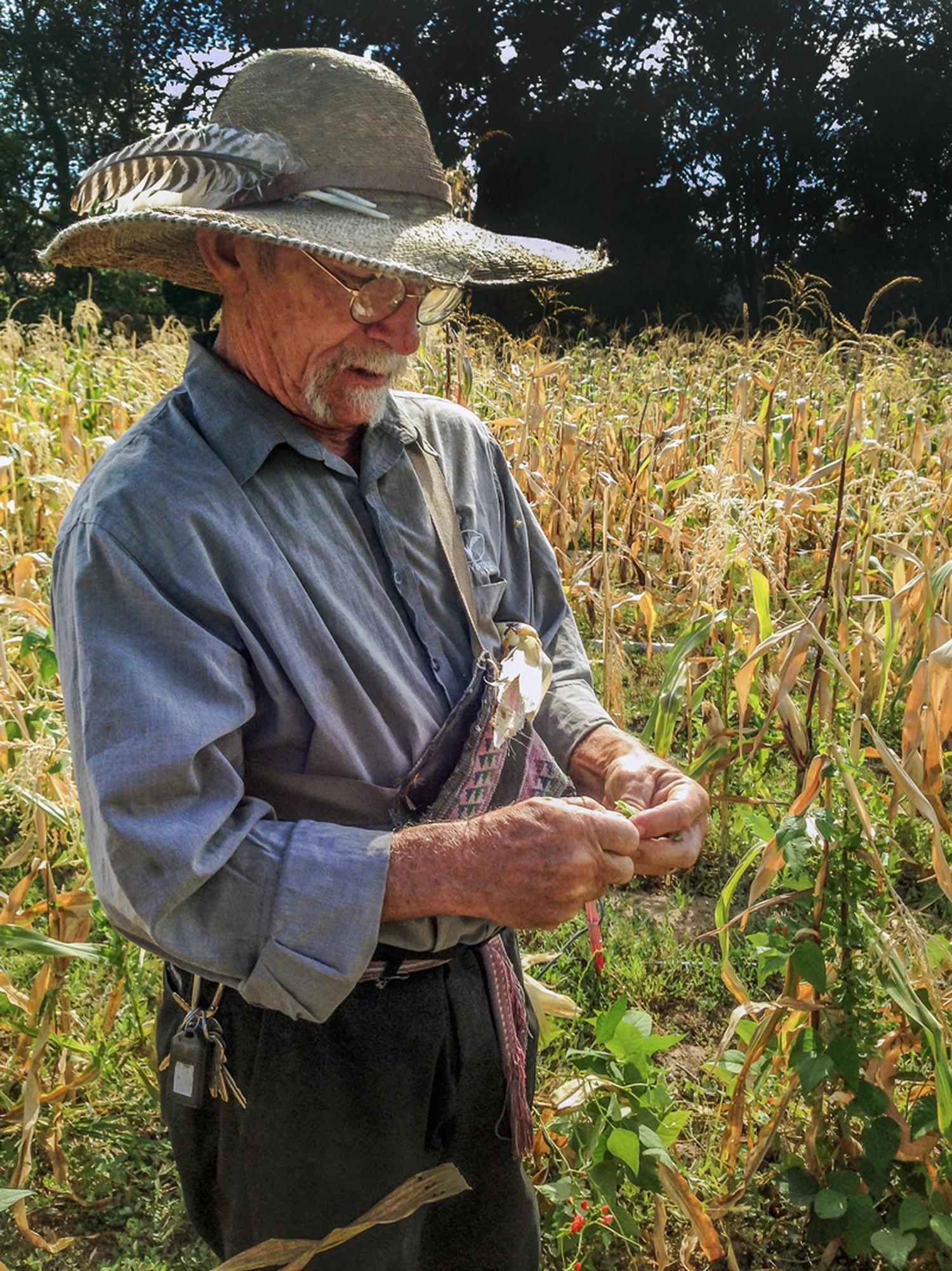 Mer-Girl Gardens farmer and Grain Team member Ron Boyd in his field.