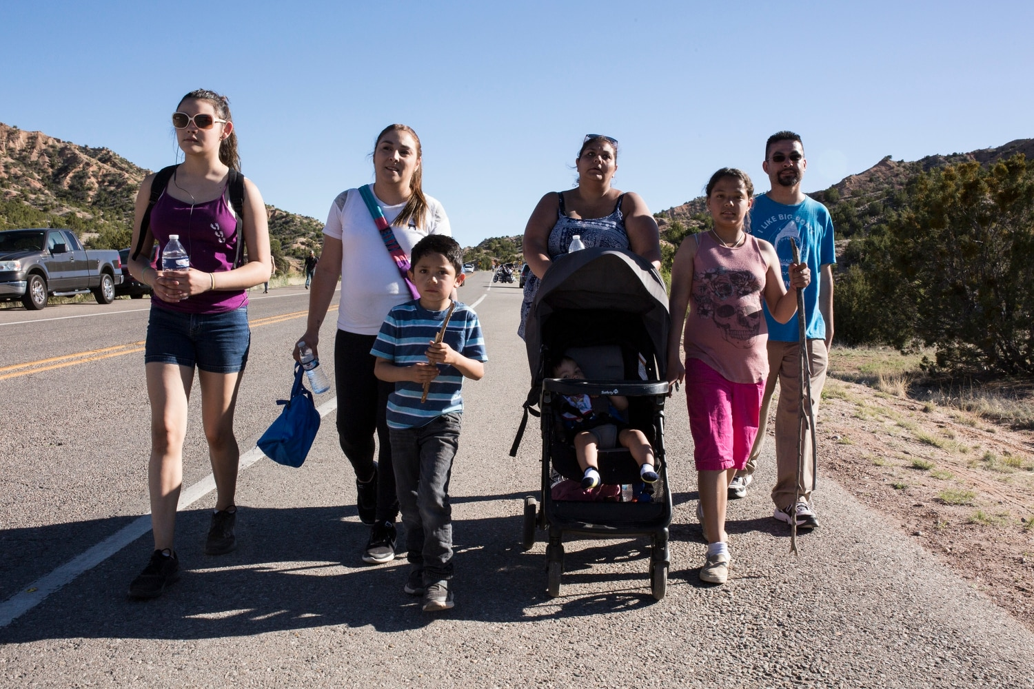Angela Valdez, second from left, walks with family members in the memory of her stepson, Leland Valdez, who died at 3 years old as a victim of child abuse. Photo by Dillon Sachs