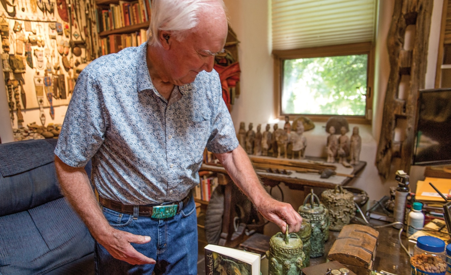Forrest Fenn's famed treasure is not the only thing he hid. Fenn showed off a set of bronze jars on a visit to his home in 2018 and told SFR he planned to hide those too.