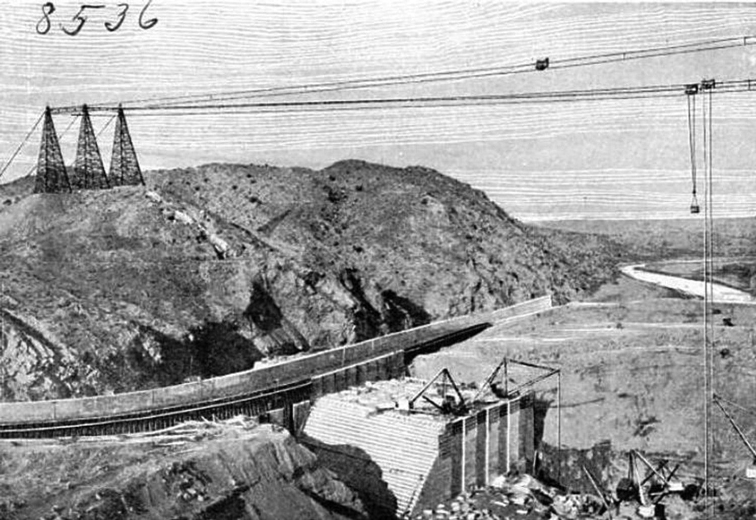 Elephant Butte Dam under construction circa 1914