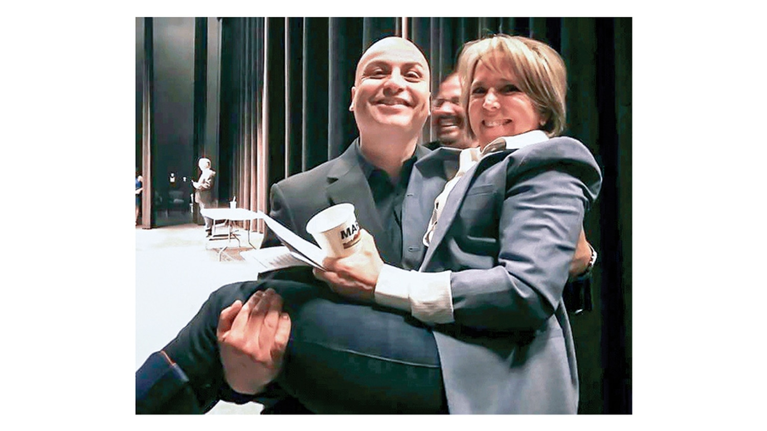 Balderas, a Democrat, is polling ahead of his two challengers with the momentum of the party's top of the ticket candidate for governor, Michelle Lujan Grisham, pictured in his arms at a party event earlier this year.