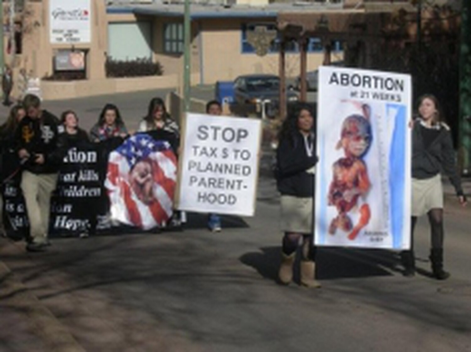 Protests such as this one, held earlier this year in Santa Fe, have helped define an anti-abortion movement that has gained political traction in recent years.