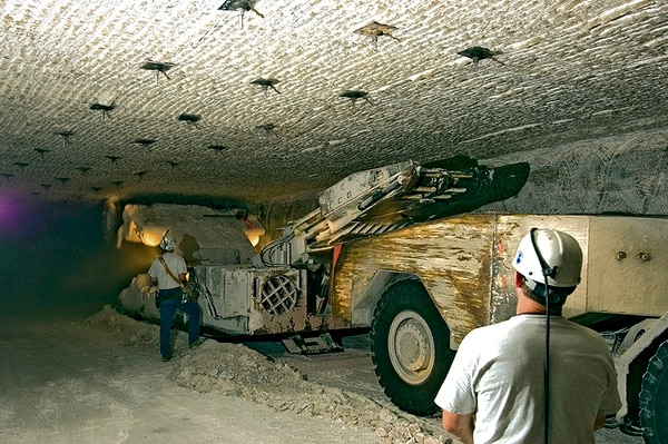 Mining crews at the Department of Energy's Waste Isolation Pilot Plant