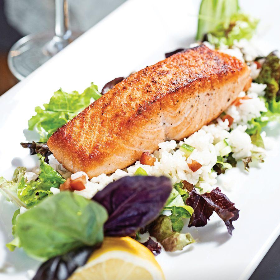 Mediterranean salmon plate