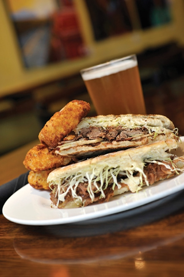 Goat torta with goat barbacoa, apples and housemade habanero goat cheese spread. 2860 Cerrillos Road, Ste. A1, 471-0043 Lunch and dinner daily Dr. Field Goods If you want to be daring and try some goat meat for the first time in the history of your palate, then head to Dr. Field Goods Kitchen and wash it down with some housemade habanero that's got a little honey in it. That should do the trick. And if you're one who likes a spicy sandwich, then that's even more of a reason to give the goat torta ($14) a whirl. The habanero has just enough kick to override the strong goat meat, and the goat cheese itself makes this rank among the more unique sandwiches around town. This kitchen, located in a nondescript strip mall anchored by a Big 5 Sporting Goods, is anything but nondescript. The inside has all the feeling of a micro-brewery, and just about everything to come out of the kitchen is specially crafted, including the soda drinks. Like the orange cream soda ($4), with fresh squeezed orange, simple syrup and soda water. The only thing perhaps lacking in this entire lunch was the potato fries. They weren't bad, but they were up against some hard competition. -TR