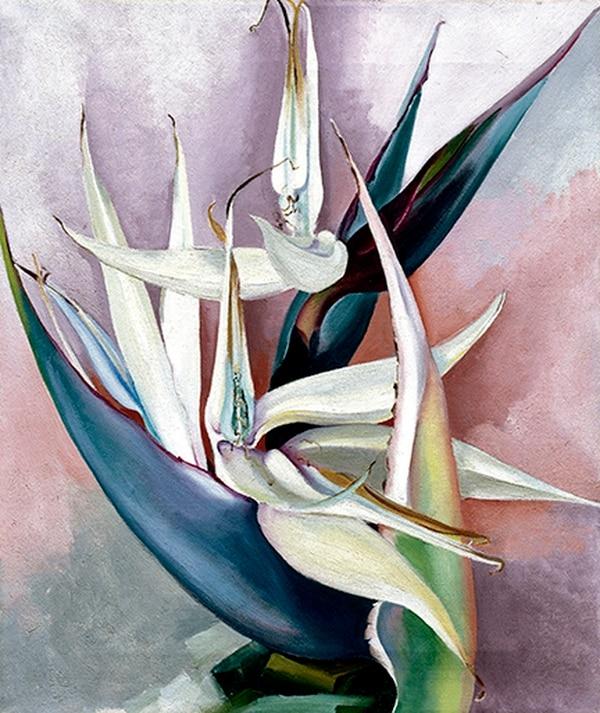 "O'Keeffe's ""White Bird of Paradise, 1939."""