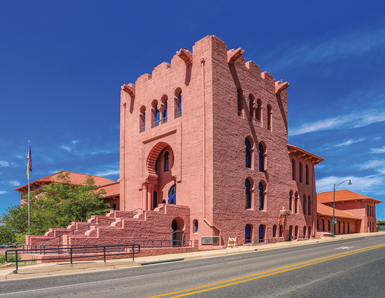 The 45,000-square-foot building was completed in 1912 and designed in the Moorish architectural style. It's now available for rent as an event venue.
