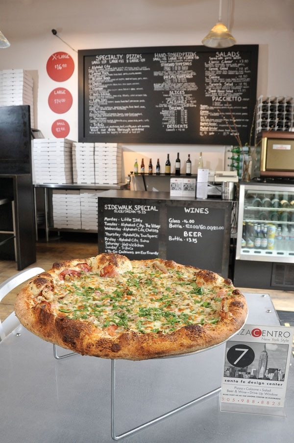 The TriBeCa pizza
