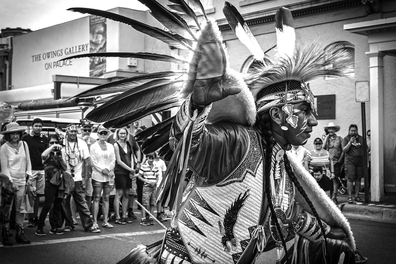 1st Place: Eagle Dancer, Indian Market, Santa Fe by Eugenie Johnson