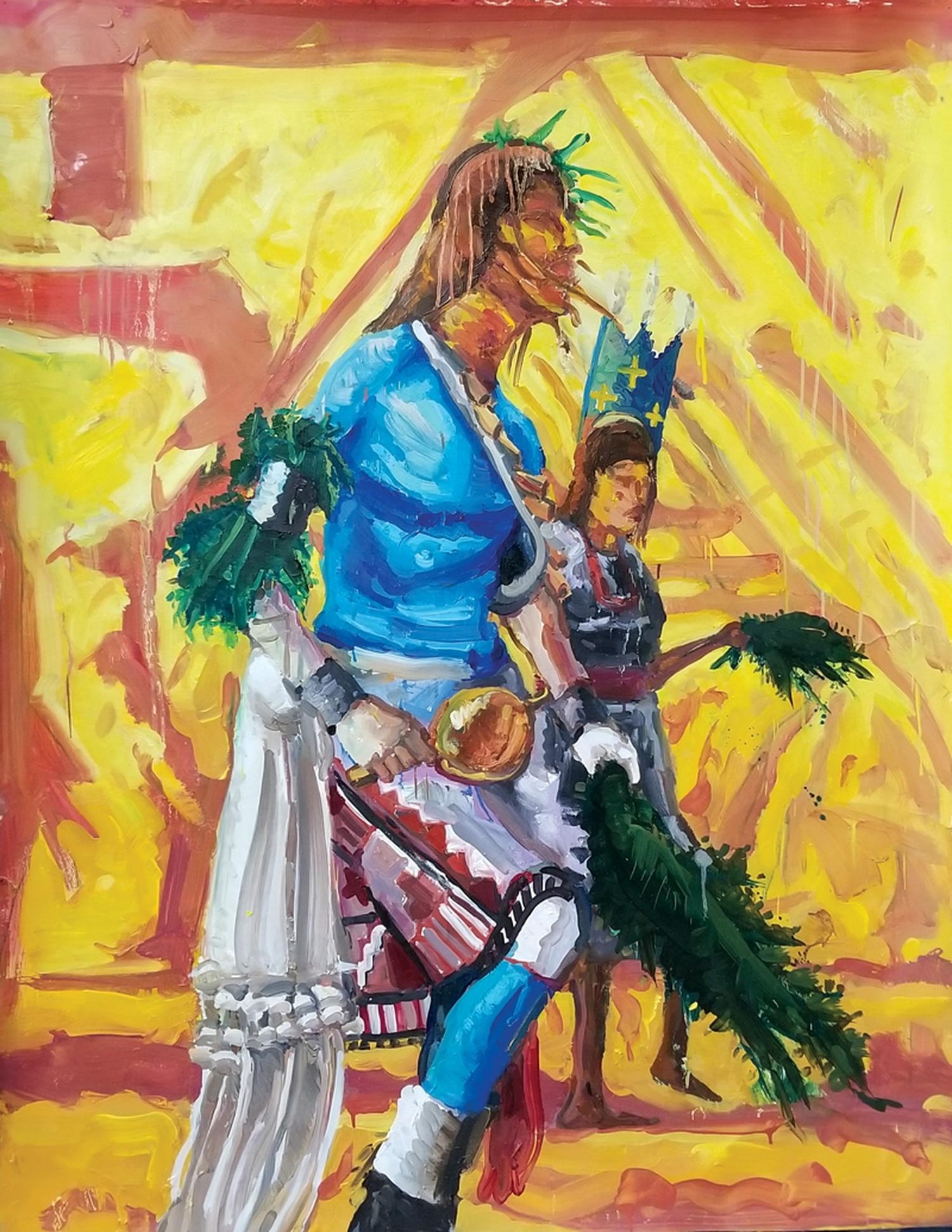 "Mateo Romero's ""Mondo Pueblo #2."""